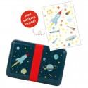 A Little Lovely Company - Śniadaniówka Lunchbox Kosmos z naklejkami