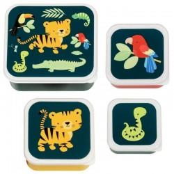 A Little Lovely Company - Lunchbox Tygrysek zestaw 4 szt.