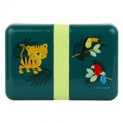 A Little Lovely Company - Śniadaniówka Lunchbox Tygrysek z naklejkami