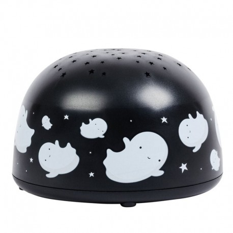 A Little Lovely Company - Projektor świetlny Dobre Duszki BLACK