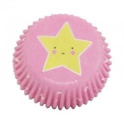 A Little Lovely Company - 50 foremek papilotek na muffinki Złoty Jednorożec