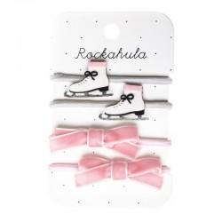 Rockahula Kids - 4 gumki do włosów Ice skate
