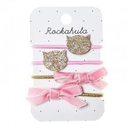 Rockahula Kids - gumki do włosów Gold Cats Ponies