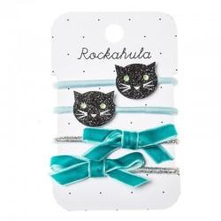 Rockahula Kids - 4 gumki do włosów Black Cats Ponies