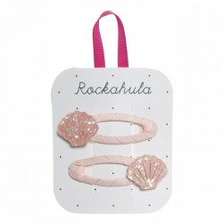 Rockahula Kids - spinki do włosów Shimmer Shell pink