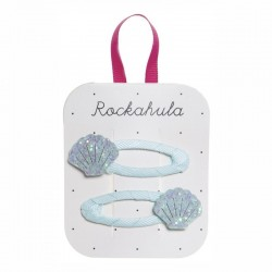 Rockahula Kids - spinki do włosów Shimmer Shell blue