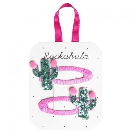 Rockahula Kids - spinki do włosów Pom Pom Cactus