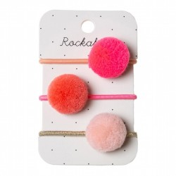 Rockahula Kids - 3 gumki do włosów Pandora Ponies Pink