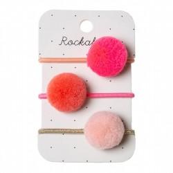 Rockahula Kids - gumki do włosów Pandora Ponies Pink