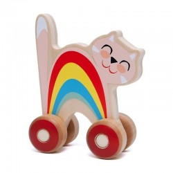 Petit Monkey - Tęczowy Kotek na kółkach