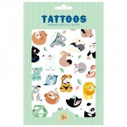 Petit Monkey - Tatuaże zmywalne dla dzieci Tattoo Wild Animals