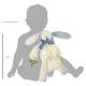 Maud N Lil Oscar The Bunny Comforter Organiczny Mięciutki Pocieszyciel wielkość