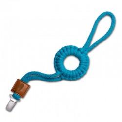 Hi Little One - sznurkowa zawieszka z kółkiem do smoczka Pacifer holder with RING Dark Teal
