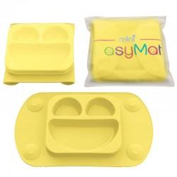 EasyTots - EasyMat Mini 2in1 BUTTER silikonowy talerzyk z podkładką - lunchbox