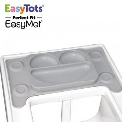 EasyTots - IKEA Perfect Fit EasyMat GREY talerzyk silikonowy z podkładką