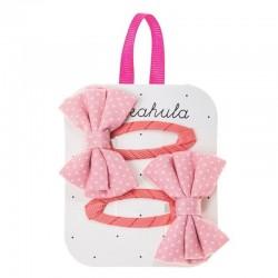 Rockahula Kids - spinki do włosów Spotty Bow Pink