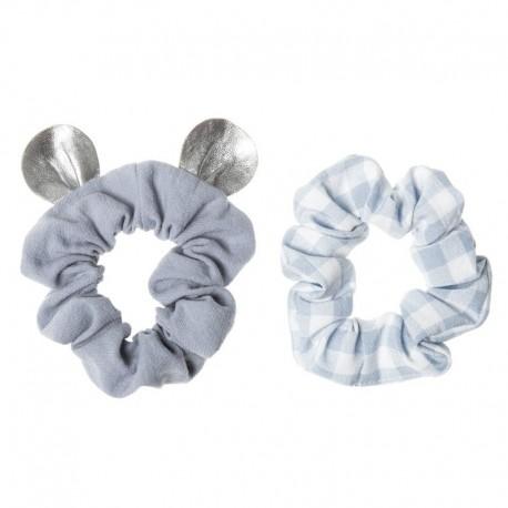 Rockahula Kids - 2 gumki do włosów Little Mouse Blue