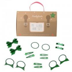 Rockahula Kids - 16 elementowy zestaw szkolny do włosów zielony