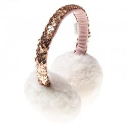 Rockahula Kids - Nauszniki brokatowe Shimmer Sequin Ivory