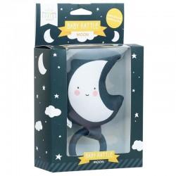 A Little Lovely Company - Grzechotka z gryzakiem silikonowym Księżyc