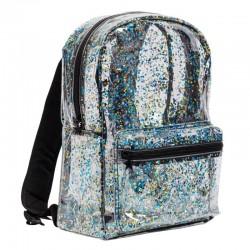A Little Lovely Company - Lśniący plecak GLITTER BLACK