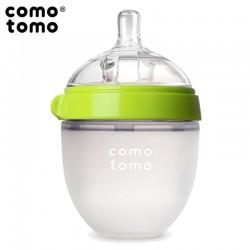 COMOTOMO - antykolkowa butelka silikonowa MOM'S BREAST 150 ml Green NEWBORN