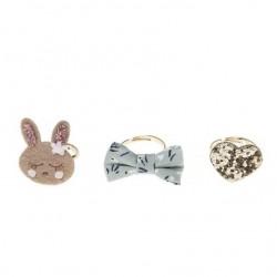 Rockahula Kids - 3 pierścionki Rosie Rabbit