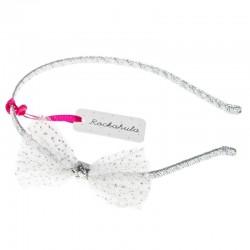 Rockahula Kids - opaska na włosy Glitter Mesh Bow Alice White