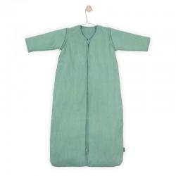 Jollein - Śpiworek niemowlęcy całoroczny 4 pory roku z odpinanymi rękawami Rib FOREST GREEN 90 cm