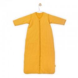 Jollein - Śpiworek niemowlęcy całoroczny 4 pory roku z odpinanymi rękawami Rib Ocher 90 cm