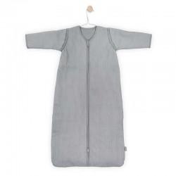 Jollein - Śpiworek niemowlęcy całoroczny 4 pory roku z odpinanymi rękawami Rib STONE GREY 70 cm