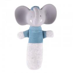 Meiya & Alvin - Alvin Elephant Organic SOFT Squeaker z kauczukową główką