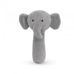 Jollein - miękka grzechotka Elephant Storm Grey