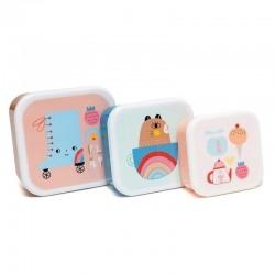 Petit Monkey - 3 śniadaniówki lunchbox Skate Boot