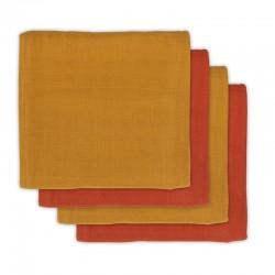 Jollein - 4 pieluszki bambusowe 70 x 70 cm Mustard Rust