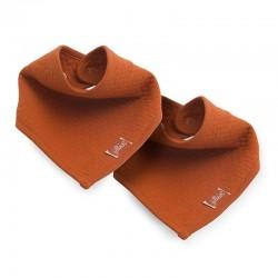 Jollein - 2 śliniaki bandany Brick Velvet Rust