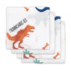 Jollein - 4 pieluszki niemowlęce Hydrophilic 70 x 70 cm Dinosaur