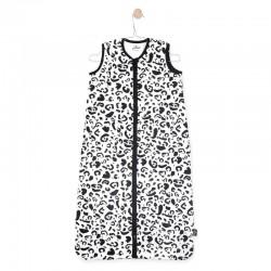Jollein - Śpiworek niemowlęcy letni Summer Leopard BLACK & WHITE 70 cm