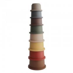 Mushie - Wieża z kubeczków Stacking Tower RETRO