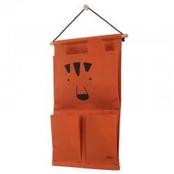 Jollein - Przybornik na łóżeczko Canvas Animal Club Rust