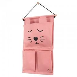 Jollein - Przybornik na łóżeczko Canvas Animal Club Rouge
