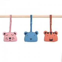 Jollein - 3 zabawki interaktywne Animal Club do stojaka Babygym