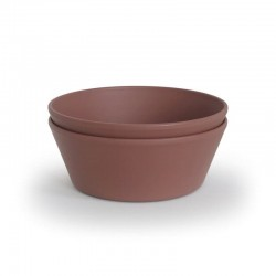 Mushie - 2 miseczki Round Woodchuck