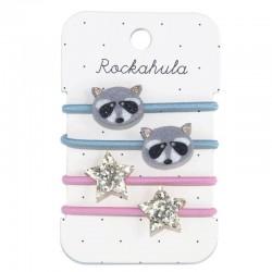 Rockahula Kids - 4 gumki do włosów Ronnie Racoon