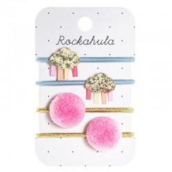 Rockahula Kids - 4 gumki do włosów Rainbow Cloud Glitter