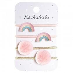 Rockahula Kids - 4 gumki do włosów Dreamy Rainbow