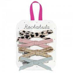 Rockahula Kids - 4 spinki do włosów Lily Leopard