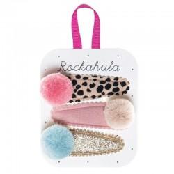 Rockahula Kids - spinki do włosów Pandora Pom Pom Leopard