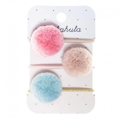 Rockahula Kids - gumki do włosów Pandora Pom Pom Leopard