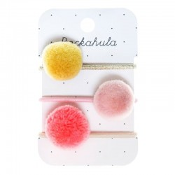 Rockahula Kids - 3 gumki do włosów Pandora Pom Pom Rainbow